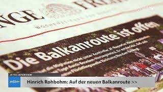 Auf der neuen Balkanroute (JF-TV Interview mit Hinrich Rohbohm)