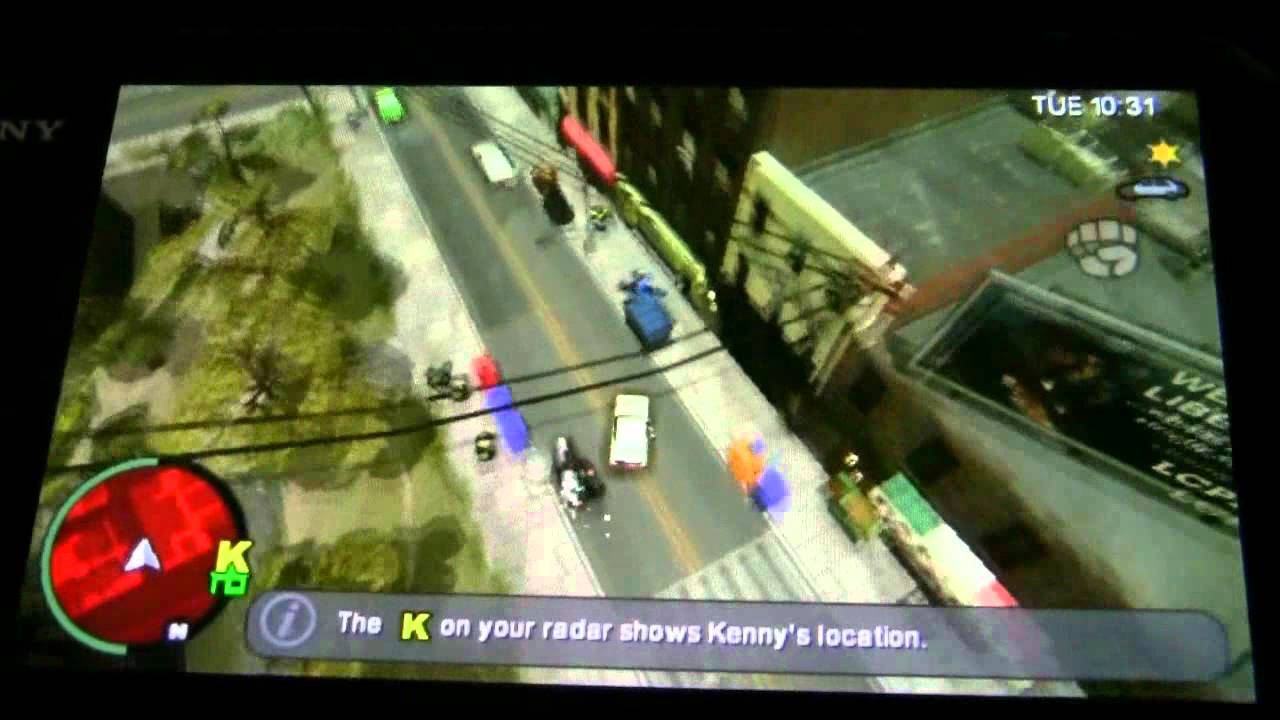 PSP games on the Vita - Grand Theft Auto: Chinatown Wars - YouTube
