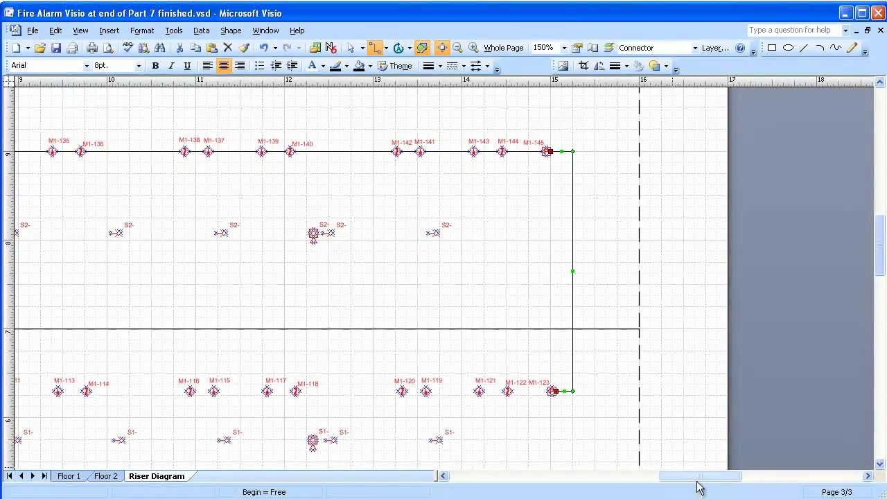 Visio 20032007 electrical systems drawing part 8 adding a riser visio 20032007 electrical systems drawing part 8 adding a riser diagram youtube asfbconference2016 Gallery