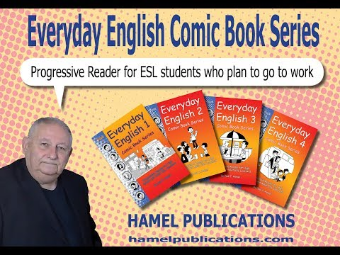 EVERY DAY ENGLISH COMIC BOOK SERIES 1-4.