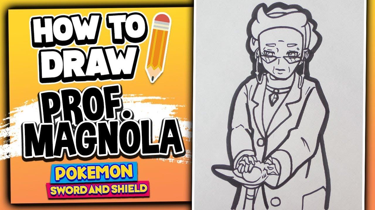 How To Draw PROFESSOR MAGNOLIA // Pokemon Sword And Shield - Drawing Tutorial #1
