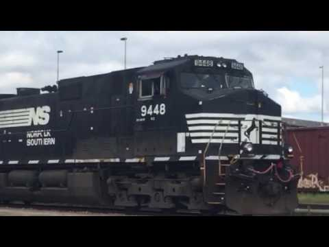 NS Mixed Freight in Meridian Mississippi