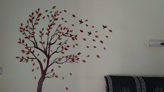Decals Design  How To Apply Wall Stickers || Review || Tricky To Stick But Beautiful Design