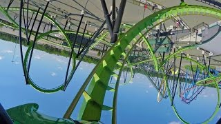 Green Lantern Stand Up Roller Coaster POV 60 FPS Six Flags Great Adventure