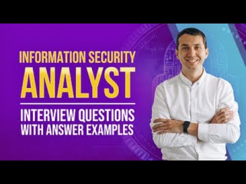 Information Security Analyst Interview Questions with Answer Examples