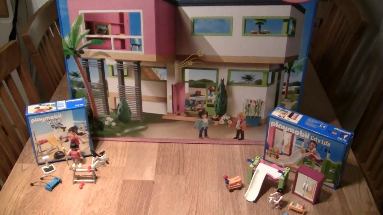 die neue luxusvilla 5574 von playmobil aufbau und zubeh r city life youtube. Black Bedroom Furniture Sets. Home Design Ideas