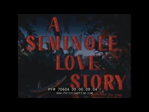 SEMINOLE INDIAN LOVE STORY 1940s VINTAGE  COLOR FILM 70604