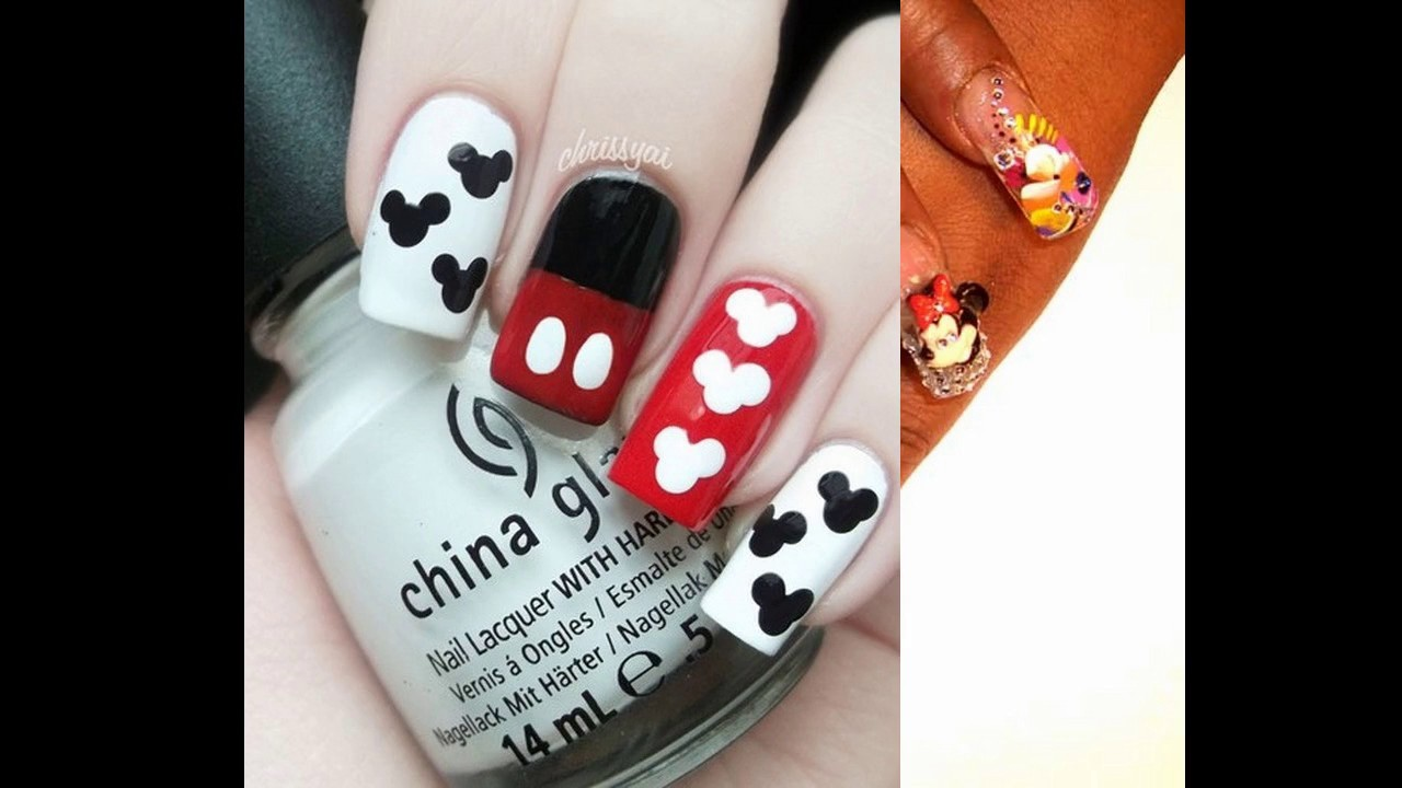 Encantador Uñas Postizas De Mickey Mouse Molde - Ideas de Diseño de ...