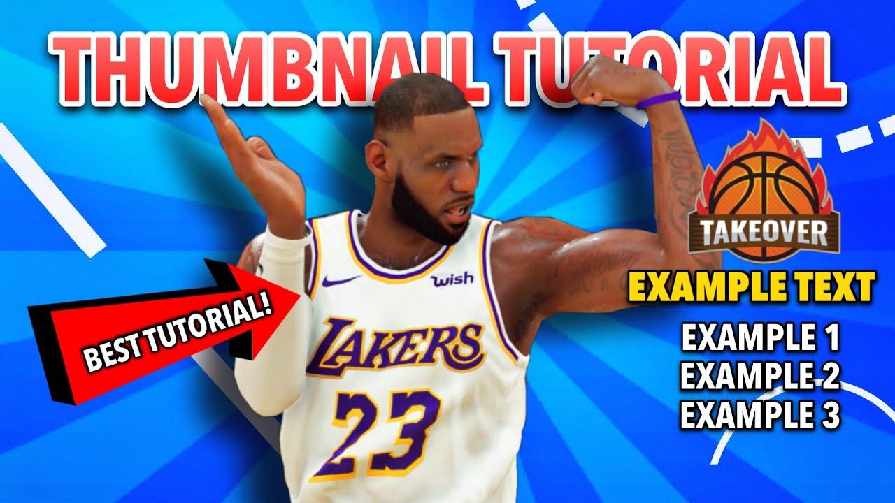 How To Make 2k Thumbnails On Your Phone Best Nba 2k21 Next Gen Thumbnail Tutorial Youtube