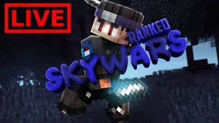 🔴LIVE: Grinding Ranked Skywars  (chill music)