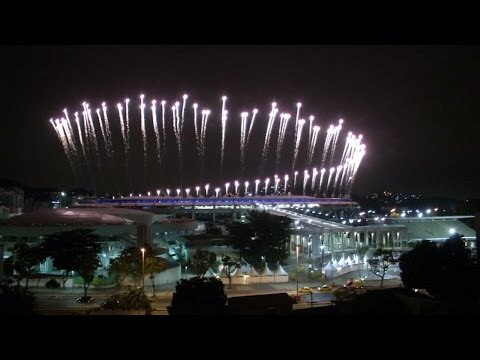 Rio lights up with Olympic fireworks test