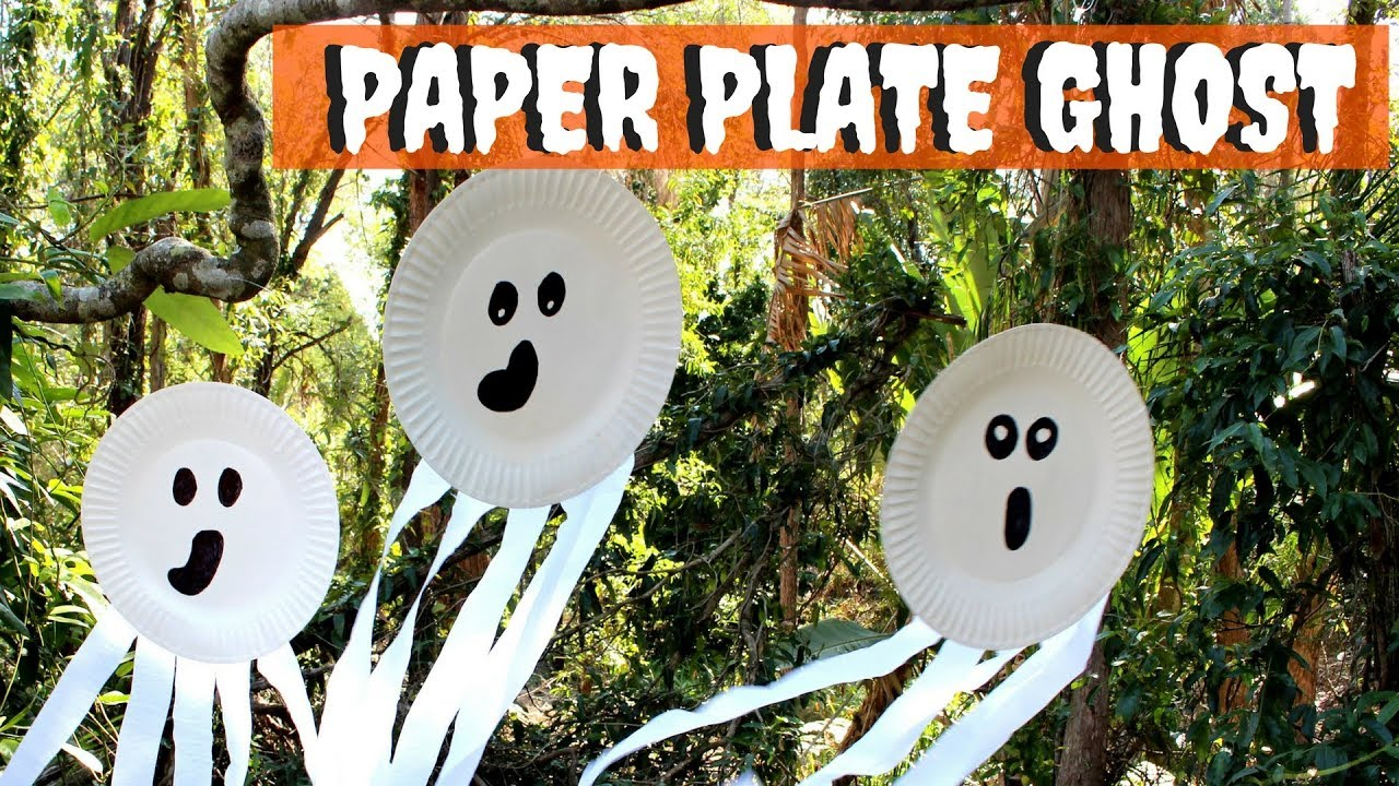 Paper Plate Ghost - YouTube