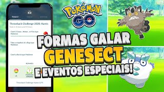 Desafio Retrô com novas formas de GALAR, GENESECT e mais!!   Pokémon GO