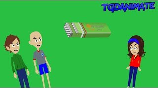 (Disowned for Boris) Classic Caillou destroys the kitchen using Goanimate logic and gets grounded