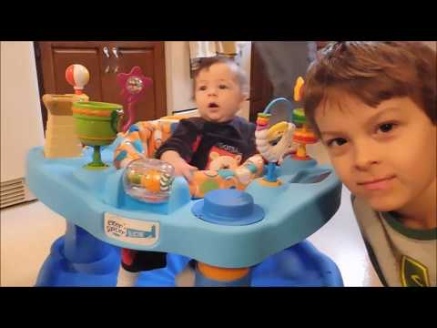 Evenflo ExerSaucer Activity Center Bouncer Assembly And Review