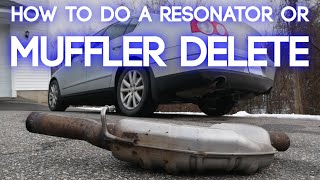 How To Remove a Muḟfler From Your Car | Resonator Or Muffler Delete, The Easy Way!