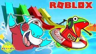 WE MUST ESCAPE THE WATER PARK ! Roblox Obby Let's Play Big Gil Vs. Gus