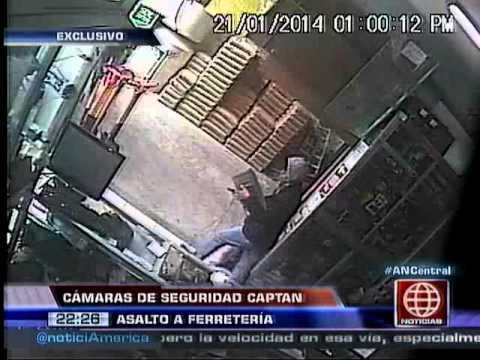 América Noticias: 22.01.14-Cámaras de seguridad registraron asalto a una ferretería