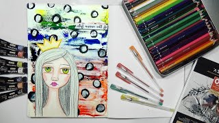 Easy Face with Colored Pencils