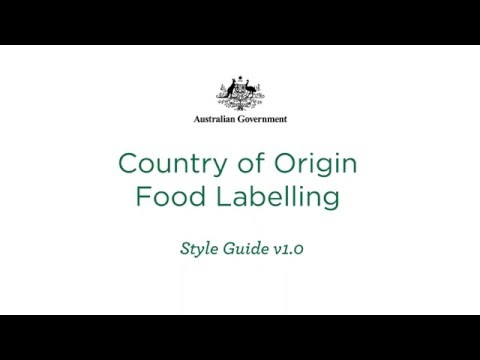 Country of Origin Food Labelling Style Guide