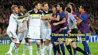 Chelsea FC vs Barcelona FC || 14-12 ALL Goals in 2005-2012 UCL || HD