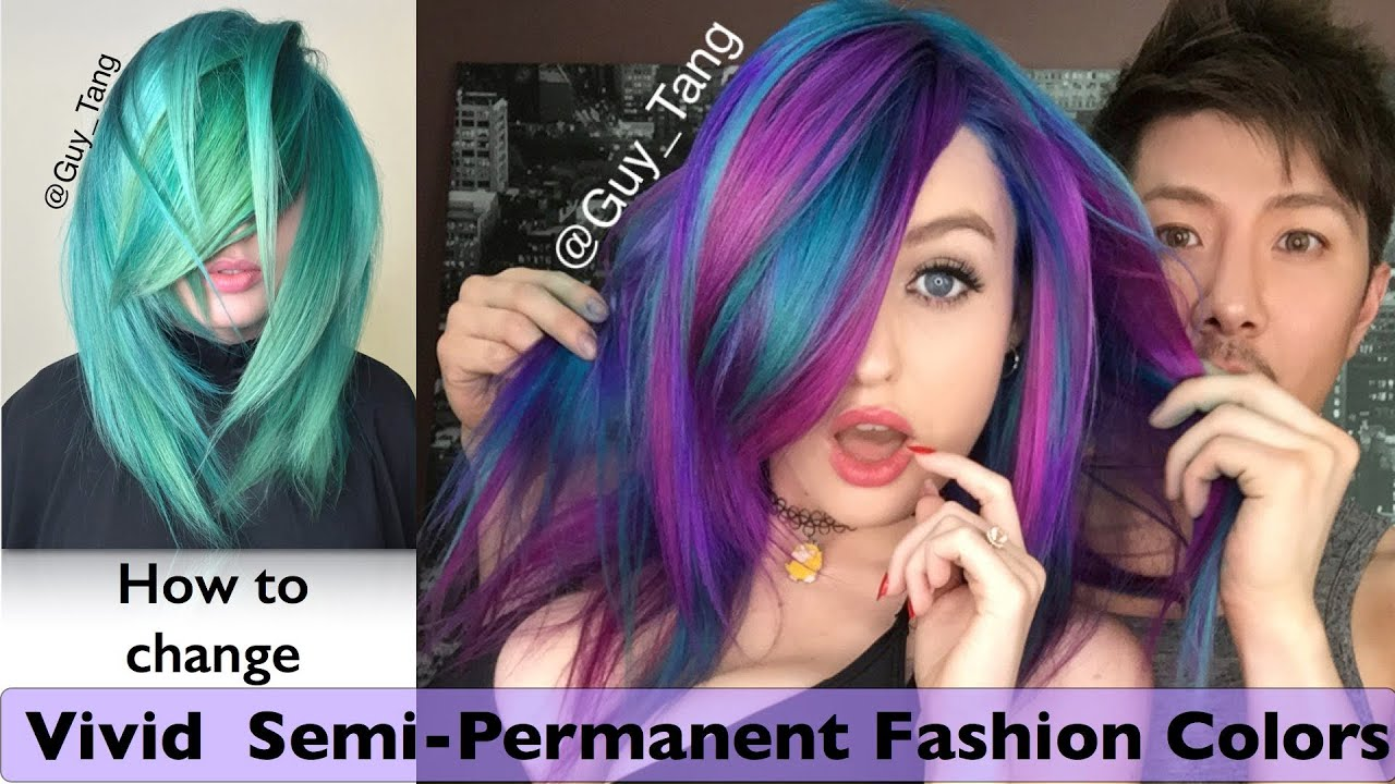 How To Change Vivid Semi Permanent Fashion Colors Youtube