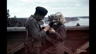 Русская женщина радостно встретила немцев