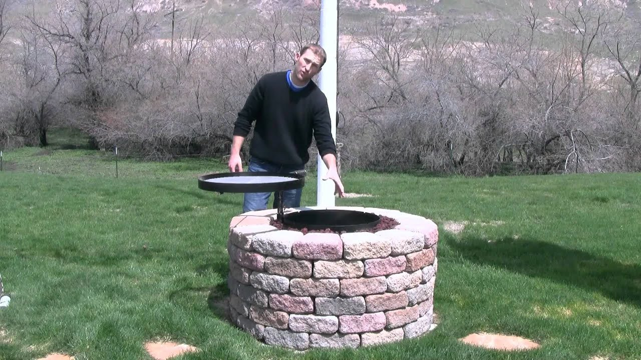 Volcano grills fire pit grill youtube for Easy diy fire pit with grill