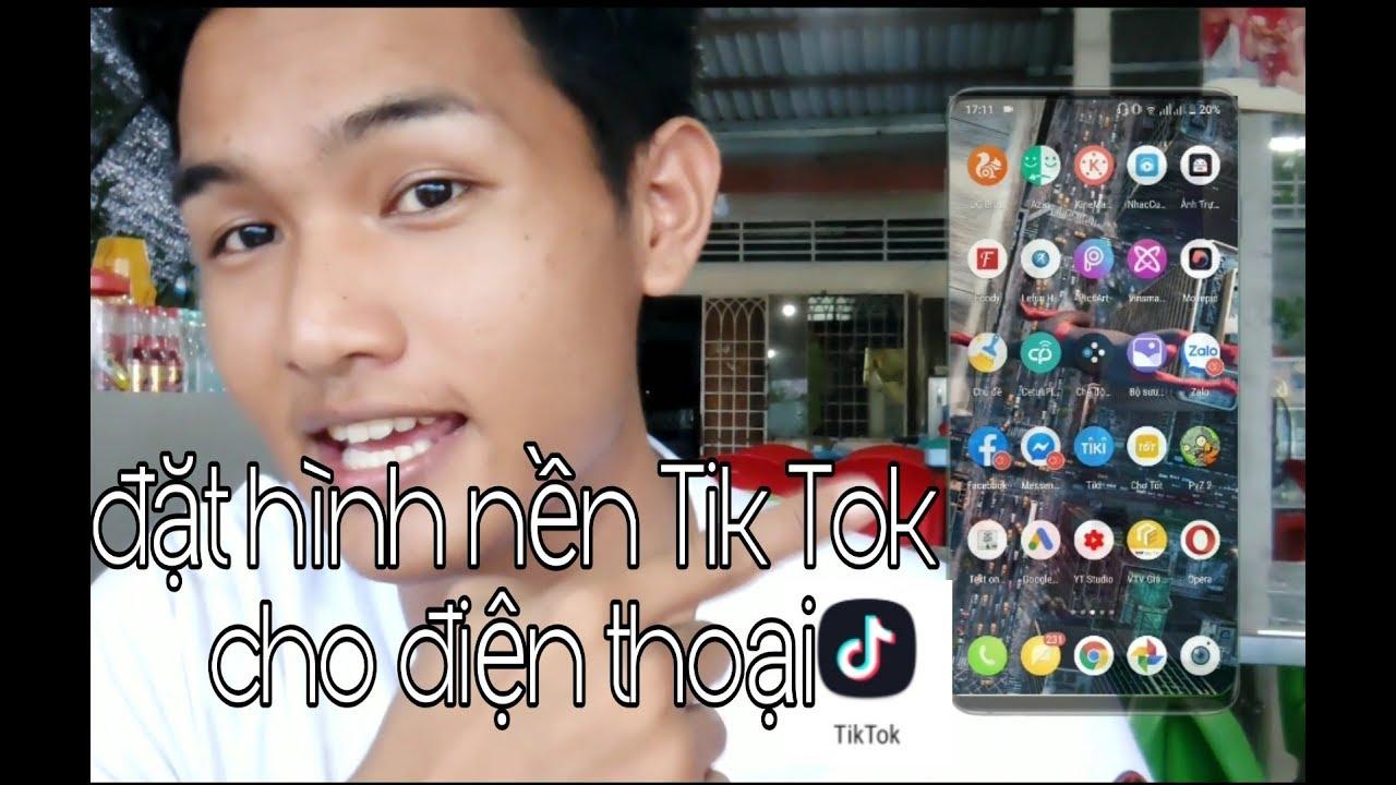 Cách làm hình nền điện thoại bằng video Tik Tok