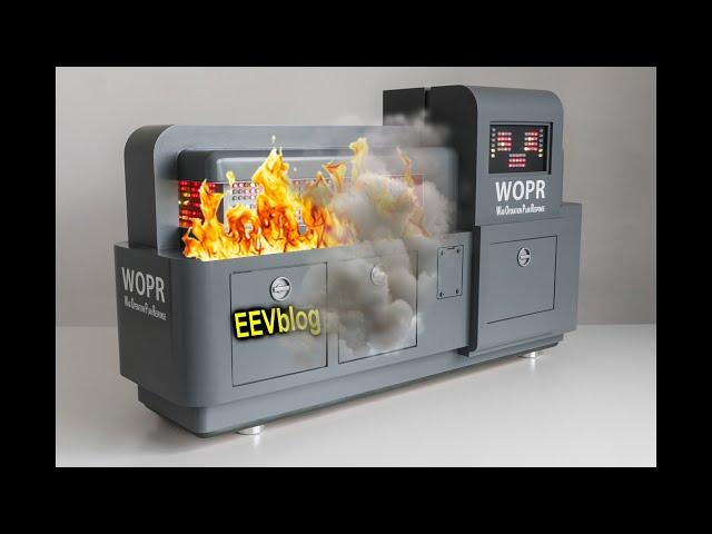 EEVBlog WebNX Data Center Server FIRE!
