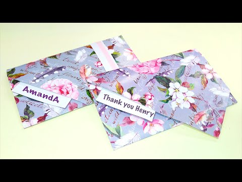 Easy envelope with wrapping paper or A4. Origami envelope WITHOUT glue and scissors!