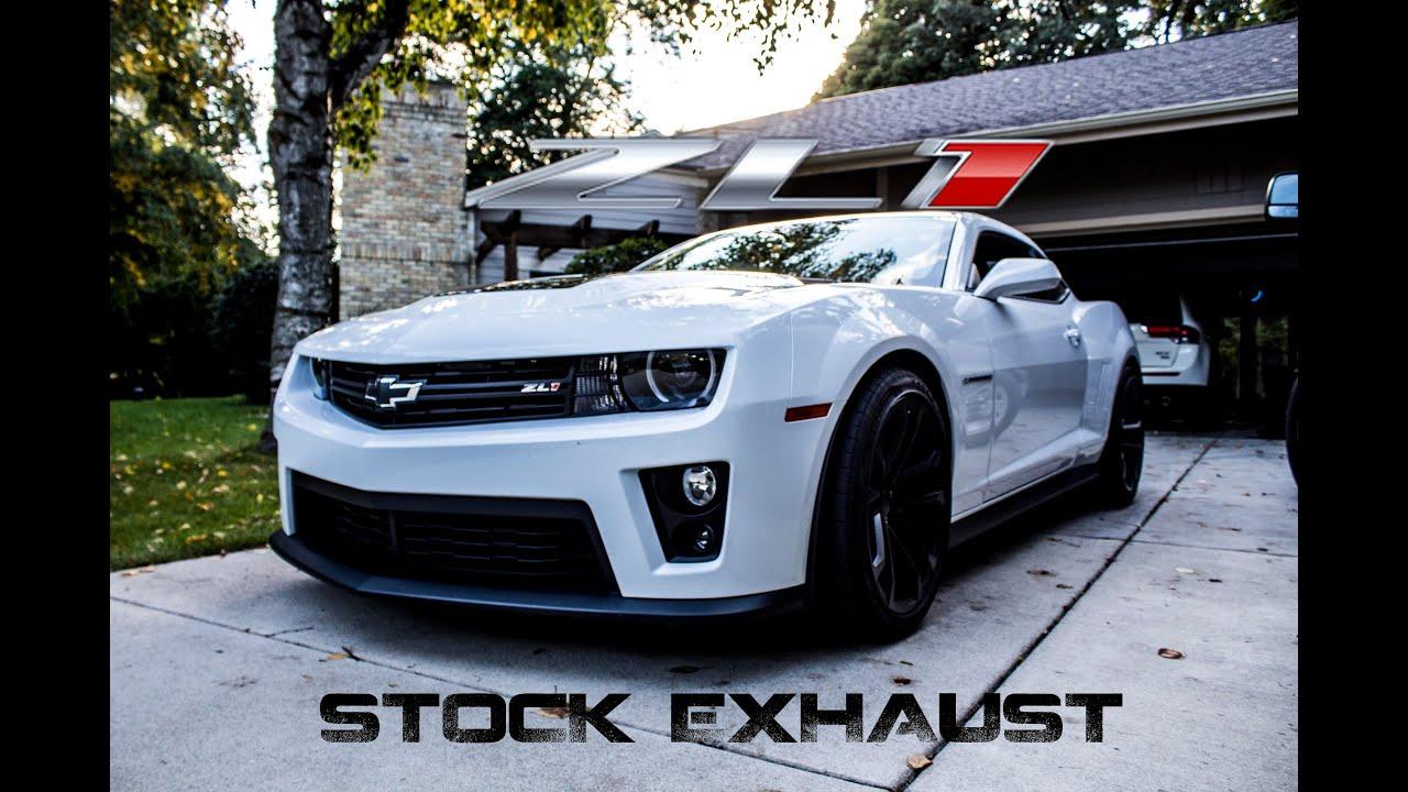 zl1 camaro stock exhaust revs