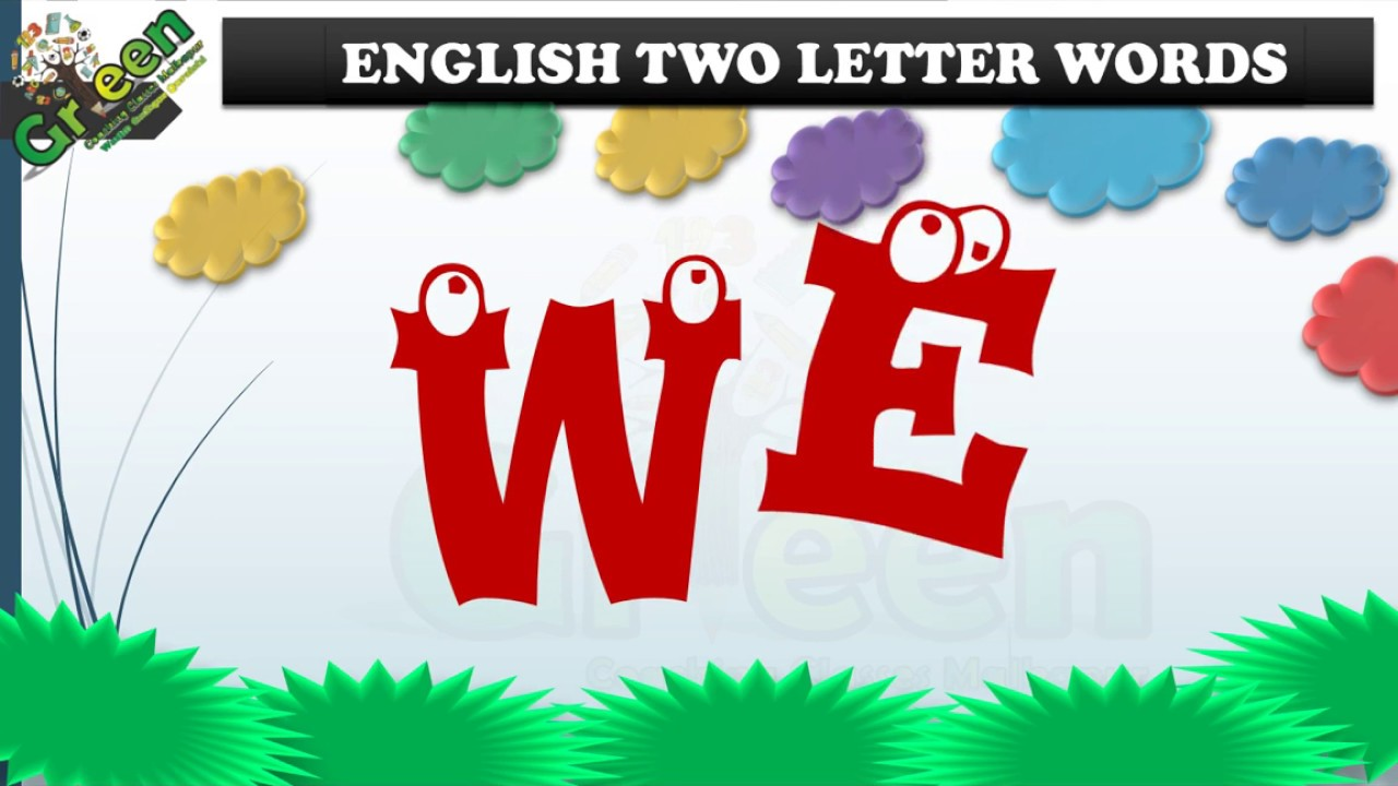 Two Letter Words For Kids Lear Two Letter Words For Kids English