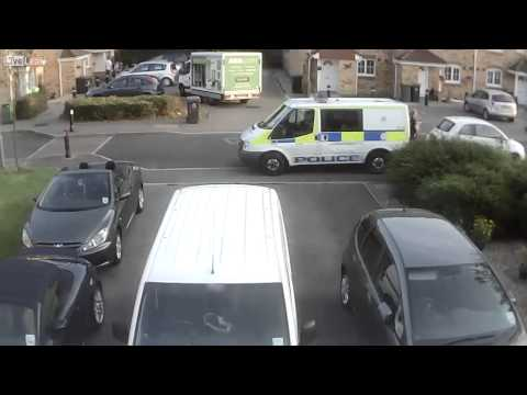 OOPS, as UK Police Van Reverses into my Parked Car !