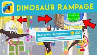 Dinosaur Rampage (where to find: stadium, water tower and highest tower)