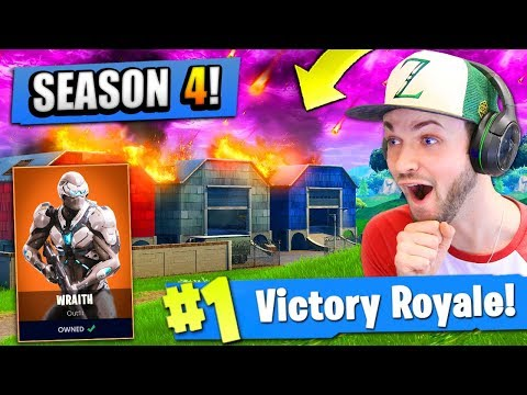 *NEW* SEASON 4 MAP UPDATE (+ SKINS) In Fortnite: Battle Royale!
