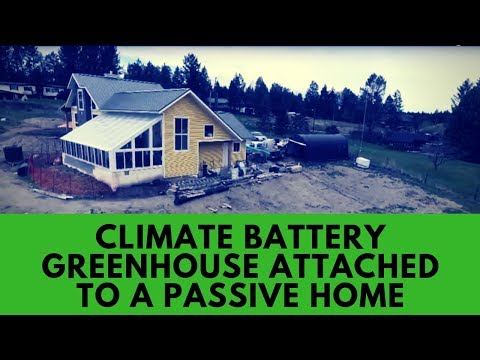 Climate Battery Greenhouse and Passive Home in Invermere BC