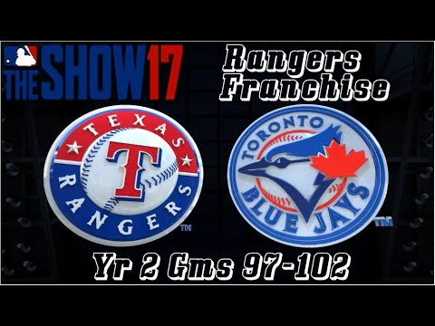 MLB 17 The Show Texas Rangers Franchise Yr 2 - gms 97-102