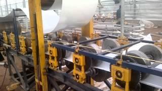 Станок для изготовления тепличных лотков(Работа станка для производства профиля, используемого в тепличном хозяйстве при выращивании культур по..., 2012-05-22T18:14:25.000Z)