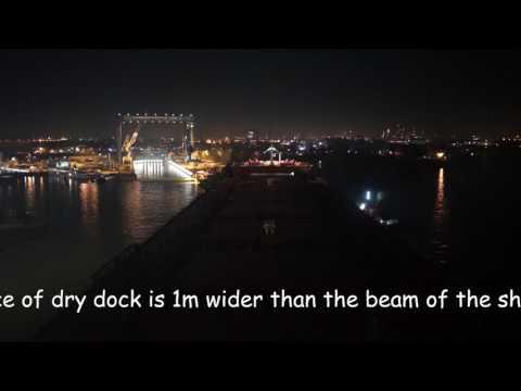 MV Citius into dry dock  8 Wiltonhaven Damen Shiprepair Schiedam (Rotterdam)