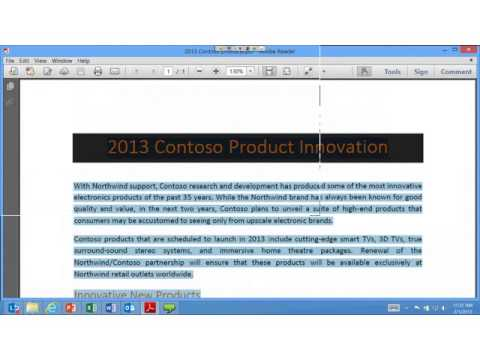 Introduction to MS Office 2013