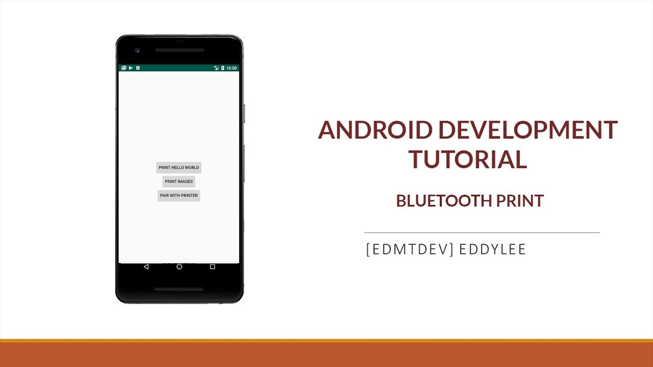 Android Development Tutorial Bluetooth Print Youtube