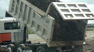 Mack Dump Truck Unloading