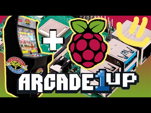 Arcade1UP - Raspberry Pie/Screen/Button MOD from Explore&Share