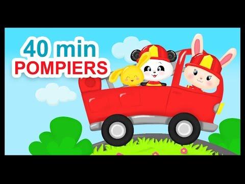 Au feu les pompiers - 40 min de comptines pour les enfants - Titounis