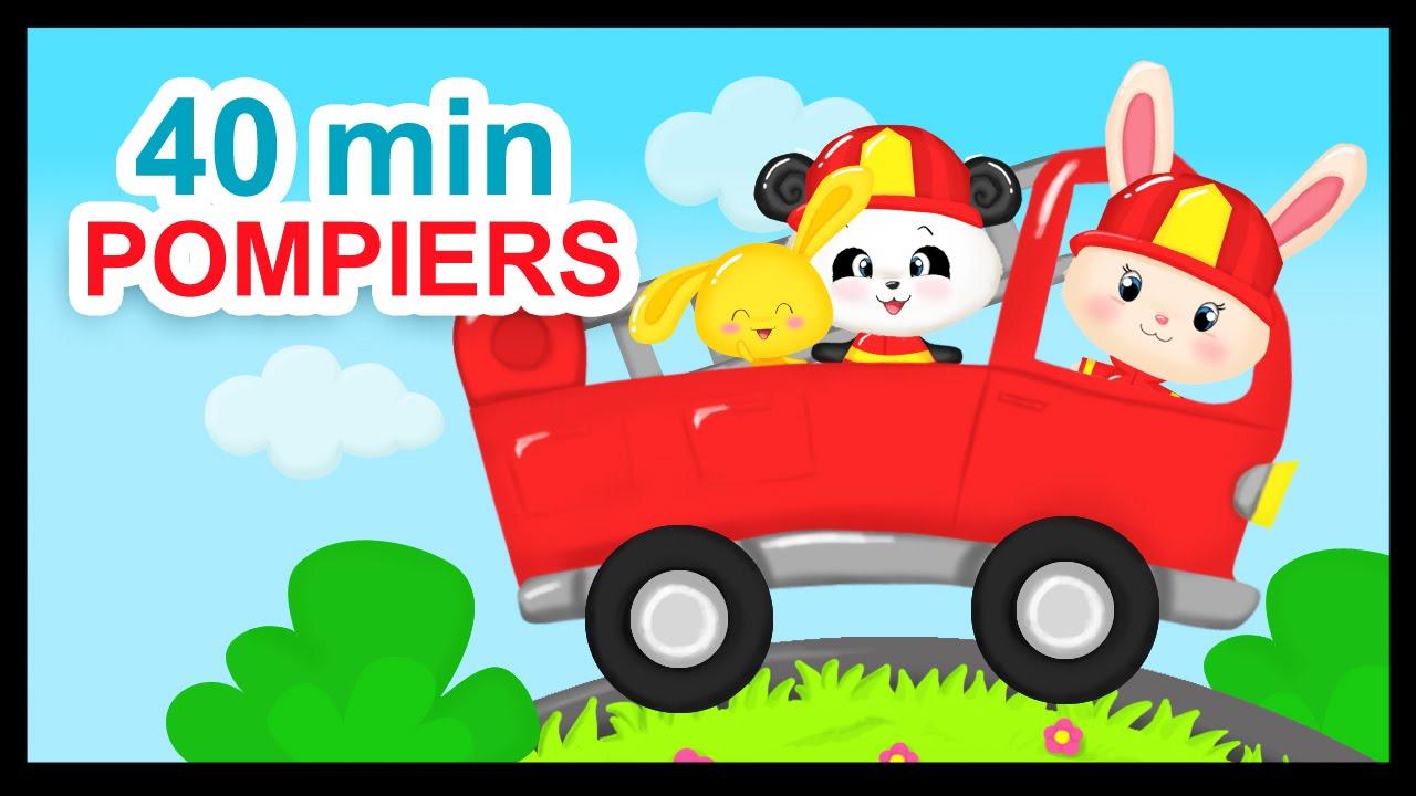 Au feu les pompiers 40 min de comptines pour les enfants for Au feu les pompiers la maison