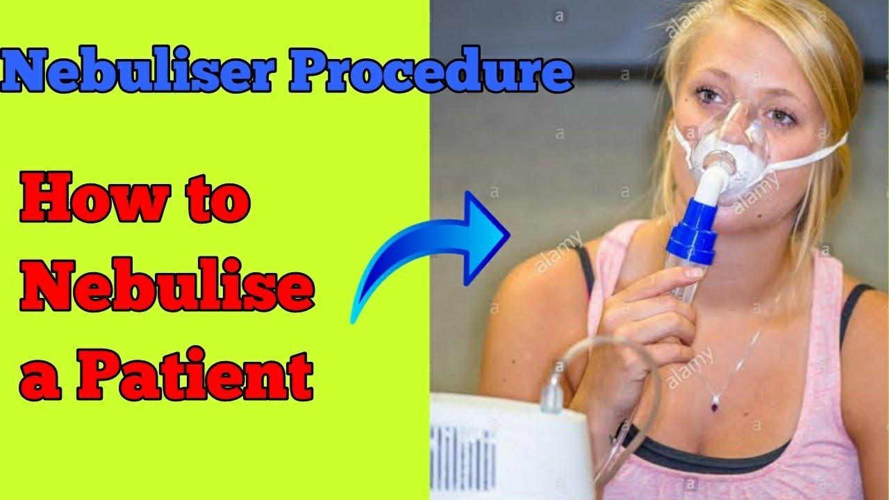 Nebulization procedure OSCE guide nebulization procedure in Hindi nebulizer  at home