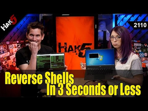 How to Get a Reverse Shell in 3 Seconds with the USB Rubber Ducky - Hak5 2110