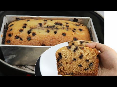 Eggless Choco Chips Cake Recipe Without Oven | Chocolate Chips Cake