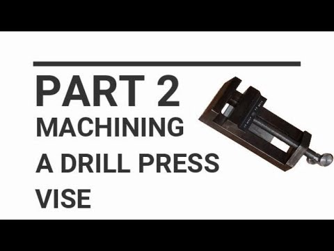 Small Drill press vise Part 2 threading on the lathe